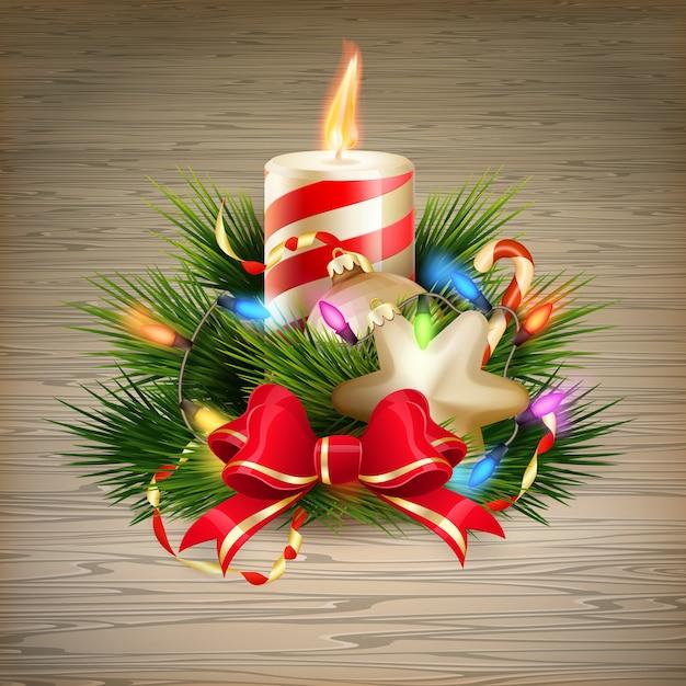 Boże narodzenie ilustracja świeca.