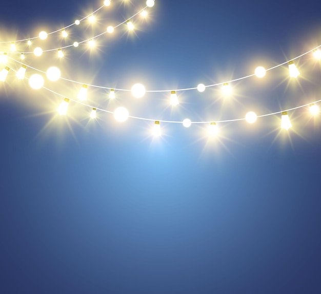 Boże narodzenie jasne piękne elementy projektu świateł świecące światła do projektowania kartki z życzeniami xmas