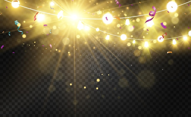 Boże narodzenie jasne piękne elementy projektu świateł świecące światła do projektowania świątecznych powitań
