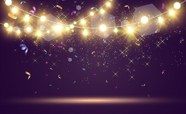 Boże narodzenie jasne piękne elementy projektu świateł świecące światła do projektowania xmas pozdrowienia c