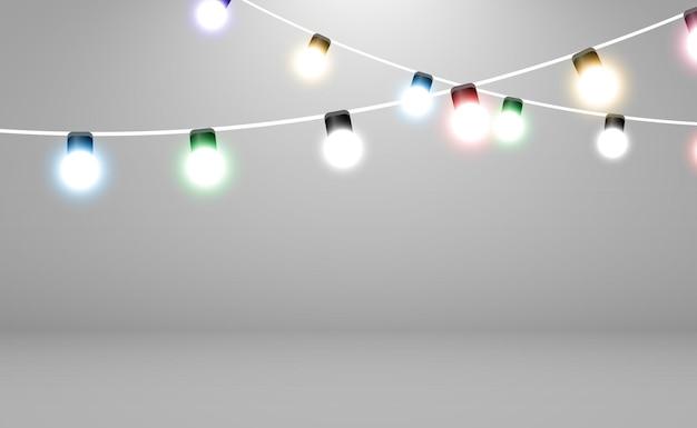 Boże narodzenie jasne piękne elementy projektu świateł świecące światła do projektowania xmas