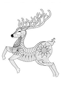 Boże narodzenie jelenia