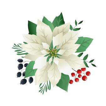 Boże narodzenie kwiaty poinsettia