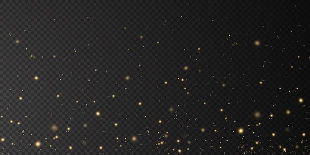 Boże narodzenie objętych złotymi światłami magia abstrakcyjna złoty pył i blask uroczysty boże narodzenie.