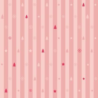 Boże narodzenie pasek wzór różowy kolor