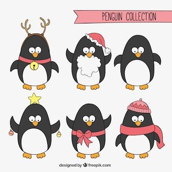 Boże narodzenie penguins kolekcja