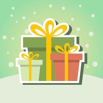 Boże narodzenie prezent wektor pudełko