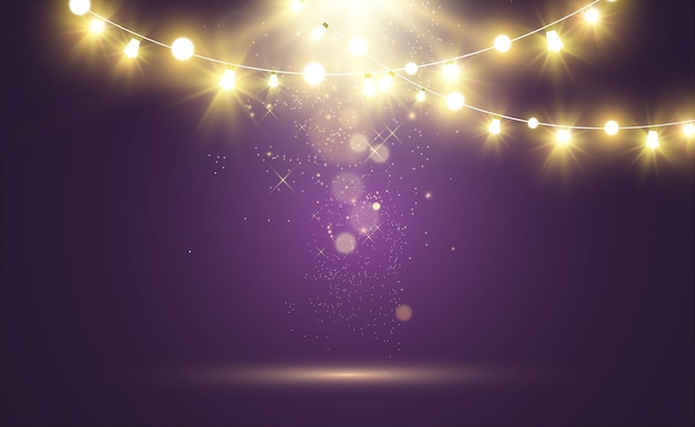 Boże narodzenie projekt jasne światła