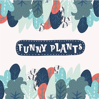 Boże narodzenie rama rośliny. ręcznie rysowane ilustracja z elementami brokatu