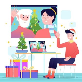 Boże narodzenie rodzina ilustracja wideo