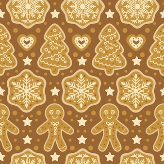 Boże narodzenie słodycze piekarnia wzór z pierniki. wakacje jesienno-zimowe. tapeta, druk, opakowania, papier, projektowanie tekstyliów. jeden z 20