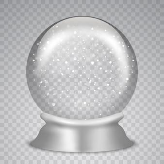Boże narodzenie śnieżna kula ziemska
