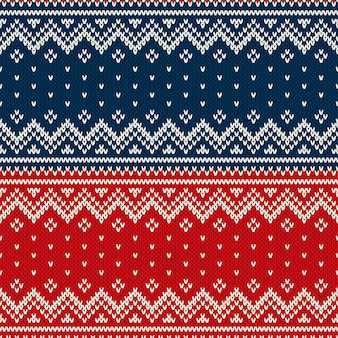 Boże narodzenie sweter projekt bez szwu dzianiny wzór