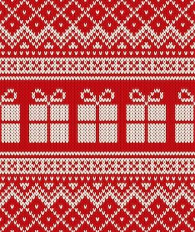 Boże narodzenie sweter projekt bezszwowe knitting wzór