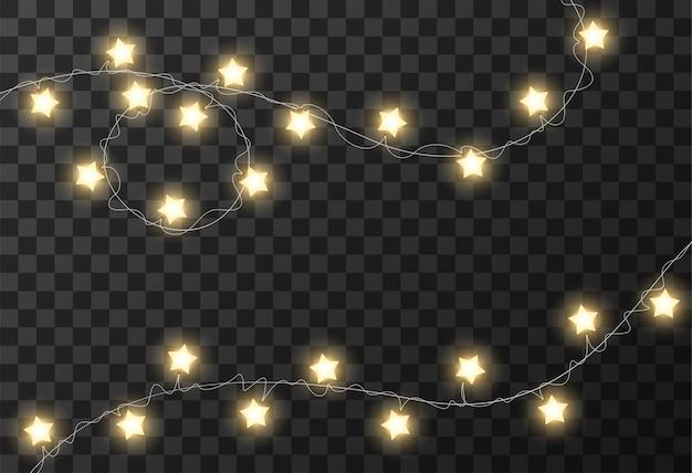 Boże narodzenie światła przezroczyste tło