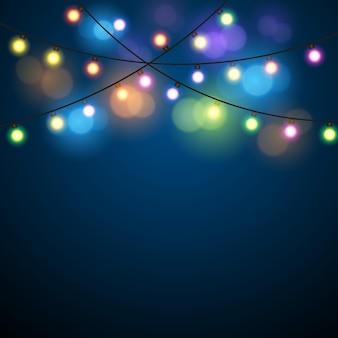 Boże narodzenie światła tło.