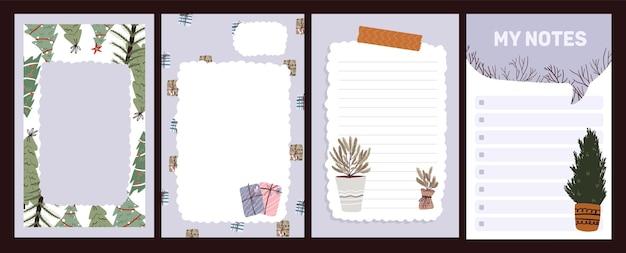 Boże narodzenie święto obchody dziennika notatnik ładny list w stylu skandynawskim