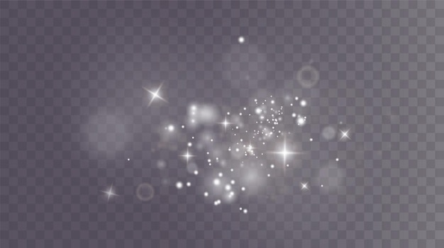 Boże narodzenie tło proszek png magia lśniący biały pył drobne błyszczące cząsteczki kurzu spadają
