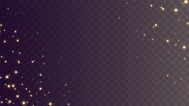 Boże narodzenie tło proszek png magia lśniący złoty pył drobne błyszczące cząsteczki kurzu spadają