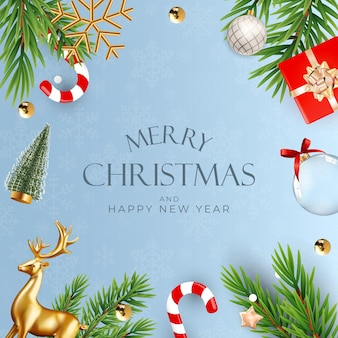 Boże narodzenie tło strony wakacje. szczęśliwego nowego roku i wesołych świąt plakat szablon. ilustracja wektorowa eps10
