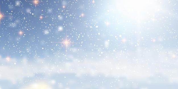 Boże narodzenie tło z śnieżnym wzorem