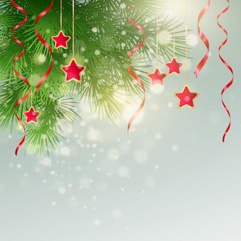 Boże narodzenie tło z świątecznych dekoracji