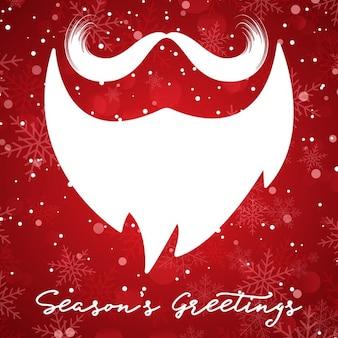 Boże narodzenie w tle z santa broda i wąsy
