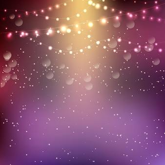 Boże narodzenie w tle z światła smyczkowych
