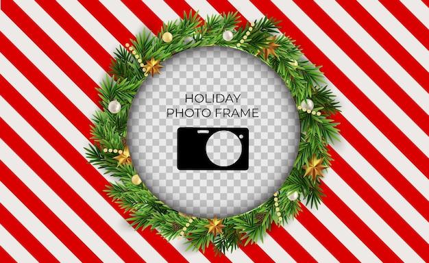 Boże narodzenie wakacje szablon ramki na zdjęcia.
