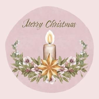 Boże narodzenie wieniec ze świecą
