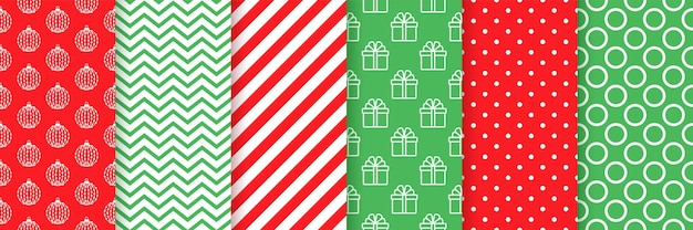 Boże narodzenie wzór. świąteczne, noworoczne wydruki. ustaw tekstury wakacyjne. świąteczny papier pakowy.