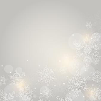 Boże narodzenie z płatkami śniegu. ilustracja.