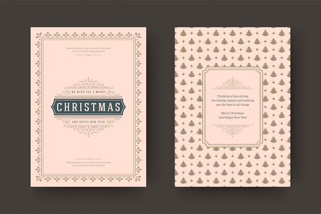 Boże narodzenie z życzeniami vintage typograficzne