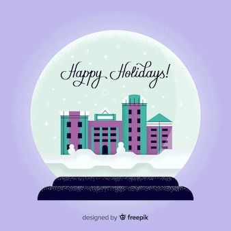Bożenarodzeniowa miasto snowball ilustracja