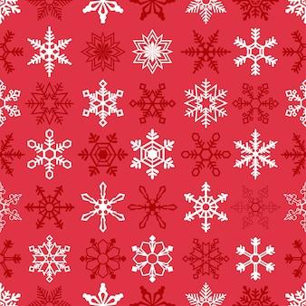 Bożenarodzeniowy bezszwowy tło z płatkami śniegu