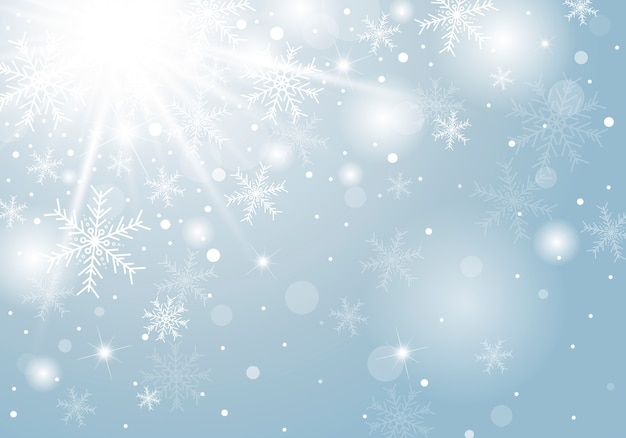 Bożenarodzeniowy tło projekt biały płatek śniegu