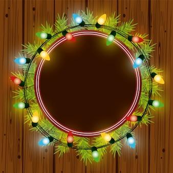 Bożonarodzeniowe światła do dekoracji