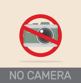Brak aparatu nie ma zdjęcia znak czerwony prohibitiovector eps
