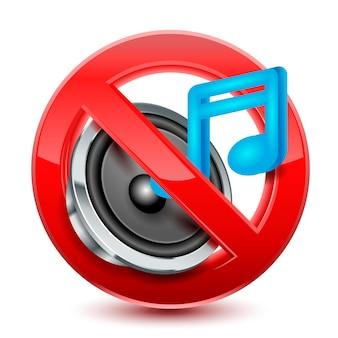 Brak dźwięku lub muzyki dozwolony znak