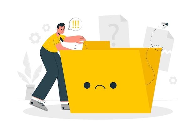 Brak ilustracji koncepcji danych