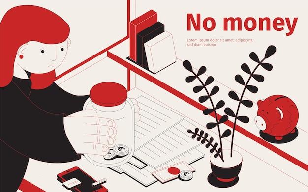 Brak ilustracji pieniędzy
