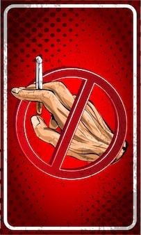 Brak kreskówki znak palenia