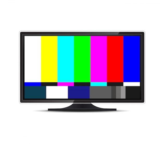 Brak sygnału telewizyjnego. błąd ekranu telewizora. smpte.