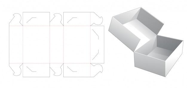 Brak szablonu wycinanego pudełka z klejem