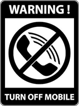 Brak telefonu telefon komórkowy i smartfon zakazany symbol znak wskazujący na zakaz