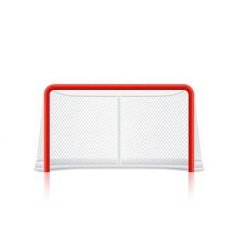 Bramka hokejowa czerwona