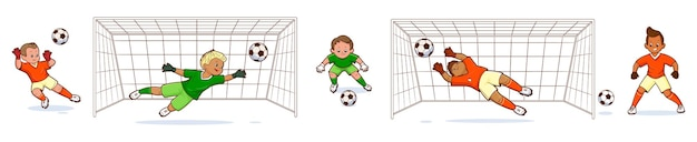 Bramkarz jest piłkarzem, który stoi przy bramce i czeka na podanie piłki