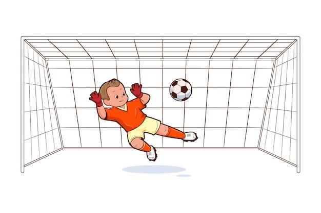 Bramkarz to piłkarz stojący przy bramce i czekający na podanie piłki