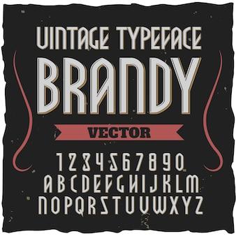 Brandy kwadratowa czcionka alfabetu