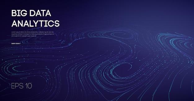 Branże przepływu danych, produkcja technologii lekkich, przemysł cybernetyczny. kod oprogramowania zwinny przemysłowy internet ikona wizualizacja dźwiękowa automatyka przemysł animacja galaktyki.